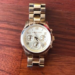 Michael kors chunky watch gold